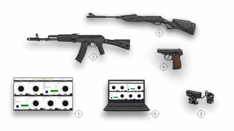 Лазерный тир электронный ⋆ТИР ЭЛЕКТРОН⋆ комплект 5